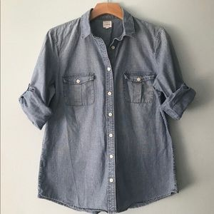 J CREW CHAMBRAY THE PERFECT SHIRT